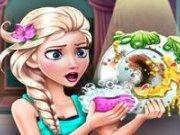 Joc de spalat vasele cu Elsa