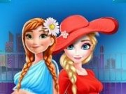 Elsa si Anna la Shopping Mall