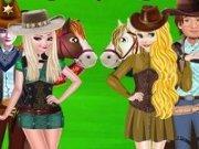 Elsa si Anna Aventura cowboy