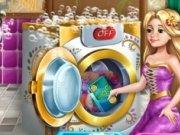 Rapunzel spala rufe murdare