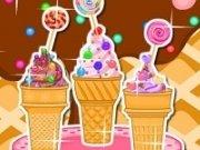 Decoreaza inghetata Candy