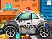 Masina politiei la spalatorie