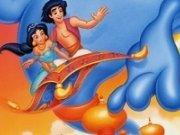 Aladdin si Iazmine de colorat