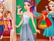 Rapunzel Design rochii curcubeu