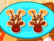 Gateste prajituri in forma de ren Rudolf