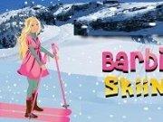 Barbie cu schiurile