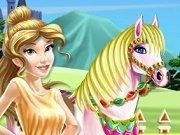 Printesa Belle Spala calul
