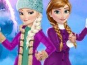 Elsa si Anna Distractie cu bulgari de zapada