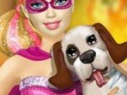 Eroina Super Barbie salveaza catelul