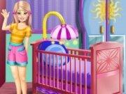 Barbie decoreaza camera bebelusului