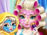 Elsa si fetita ei Machiaj