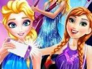 Elsa si Anna pe  Facebook