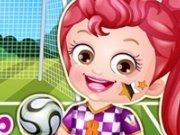 Baby Hazel jucatoare de fotbal