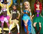 Rapunzel, Moana, Ariel și Elsa Steampunk